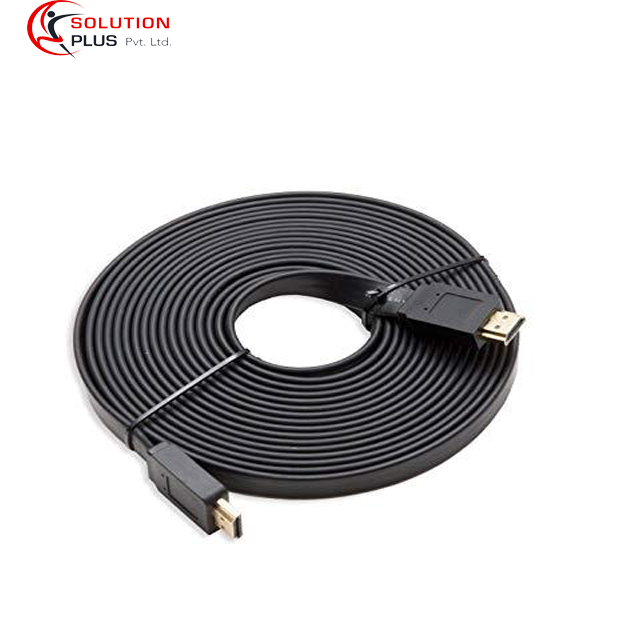 10 Meter  Flat Gold Plated Hdmi Cable